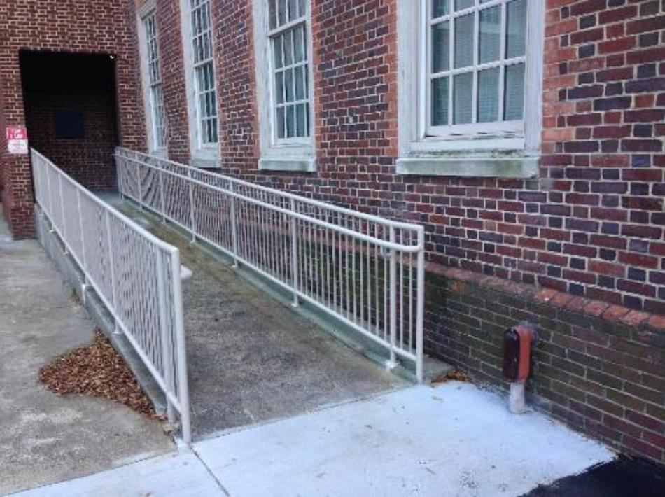ADA COMPLIANT HANDICAP RAILINGS SPONG HALL OLD DOMINION UNIVERCITY